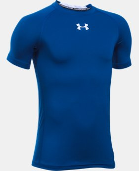 Boys' UA HeatGear® Armour Short Sleeve Fitted Shirt  1 Color $16.99