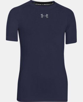 Boys' UA HeatGear® Armour Short Sleeve Fitted Shirt  1 Color $12.07