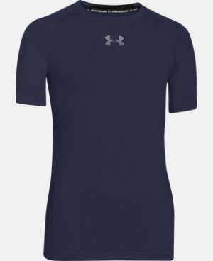 Boys' UA HeatGear® Armour Short Sleeve Fitted Shirt  1 Color $22.99