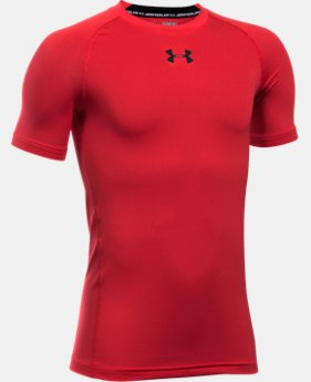 Boys' UA HeatGear® Armour Short Sleeve Fitted Shirt  1 Color $16.09