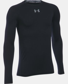 Boys' UA HeatGear® Armour Long Sleeve Fitted Shirt