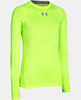 Boys' UA HeatGear® Armour Long Sleeve Fitted Shirt   $26.99