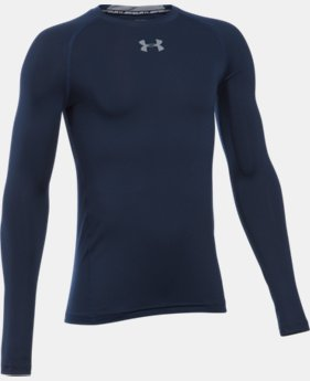 New Arrival  Boys' UA HeatGear® Armour Long Sleeve Fitted Shirt  1 Color $26.99 to $34.99