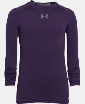 Boys' UA HeatGear® Armour Long Sleeve Fitted Shirt LIMITED TIME: FREE U.S. SHIPPING  $21.99 to $22.99