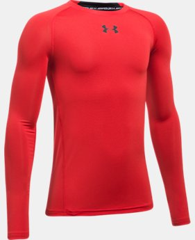Best Seller Boys' UA HeatGear® Armour Long Sleeve Fitted Shirt  2 Colors $29.99
