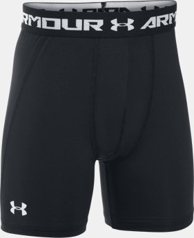 Boys' UA HeatGear® Armour Fitted Shorts – Mid   $22.99
