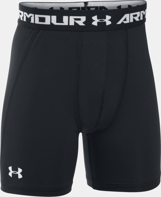 New Arrival  Boys' UA HeatGear® Armour Fitted Shorts – Mid LIMITED TIME: FREE SHIPPING  $27.99