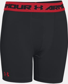 Boys' UA HeatGear® Armour Fitted Shorts – Mid  1 Color $20.99