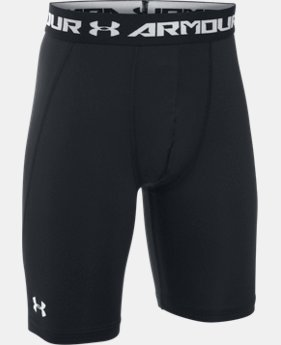 Boys' UA HeatGear® Armour Fitted Shorts – Long
