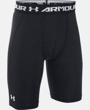 New Arrival  Boys' UA HeatGear® Armour Fitted Shorts – Long  1 Color $22.99