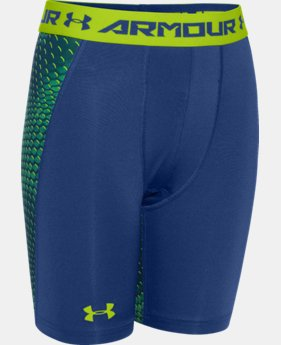 Boys' UA HeatGear® Armour Fitted Shorts – Long  1 Color $14.99