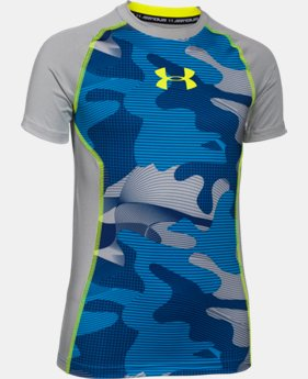 Boys' UA HeatGear® Armour Up Short Sleeve Fitted Shirt   $14.99 to $18.99