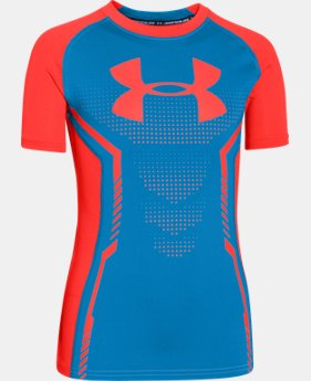 Boys' UA HeatGear® Armour Up Short Sleeve Fitted Shirt LIMITED TIME: FREE U.S. SHIPPING 1 Color $18.99