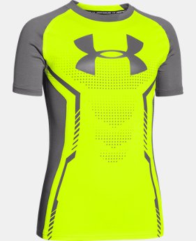 Boys' UA HeatGear® Armour Up Short Sleeve Fitted Shirt LIMITED TIME: FREE U.S. SHIPPING 1 Color $14.99 to $18.99
