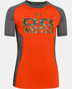 Boys' UA HeatGear® Armour Up Short Sleeve Fitted Shirt LIMITED TIME: FREE U.S. SHIPPING  $14.99 to $18.99