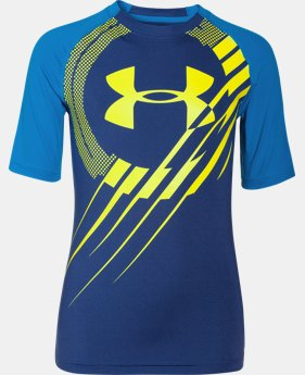 Boys' UA Show Me Sweat UPF ½ Sleeve T-Shirt  1 Color $20.99 to $25.99