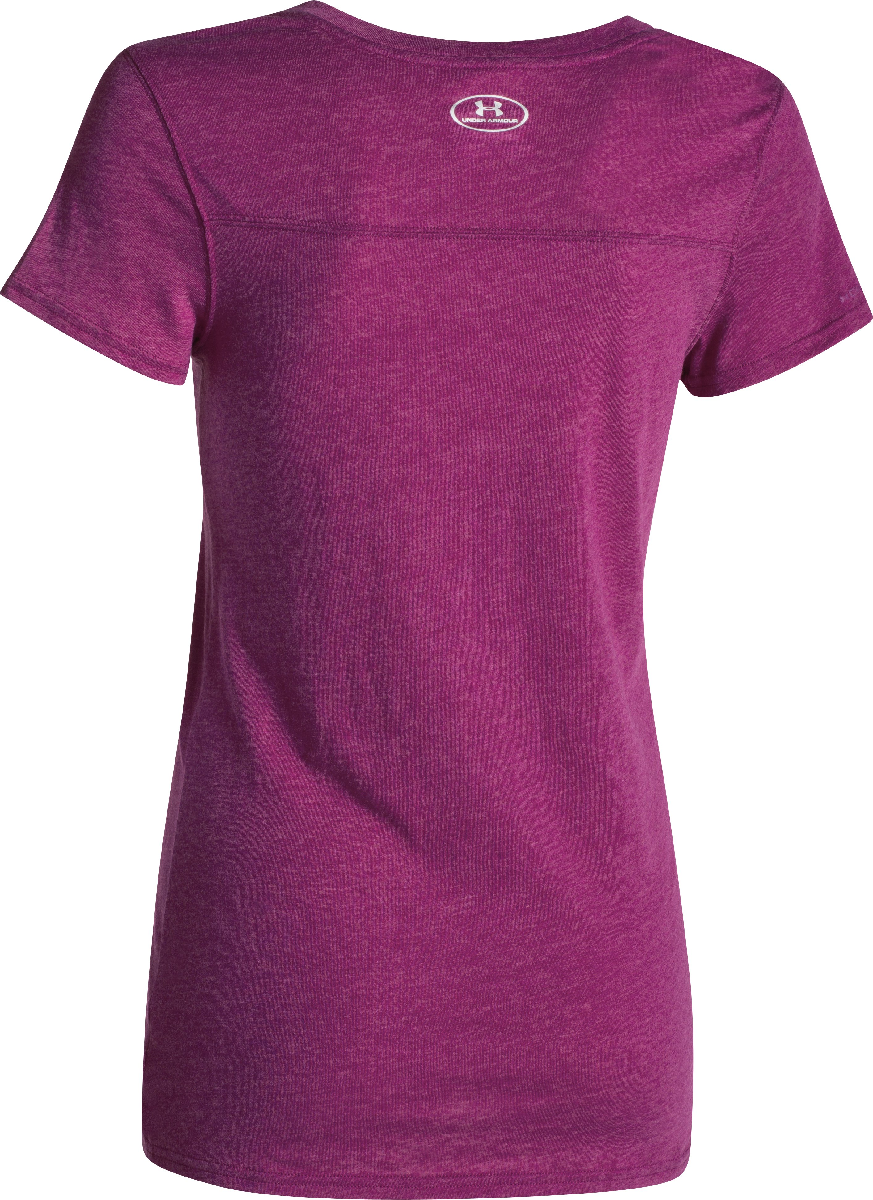 Women's UA Charged Cotton® Tri-Blend Under Armour T-Shirt, Aubergine, undefined