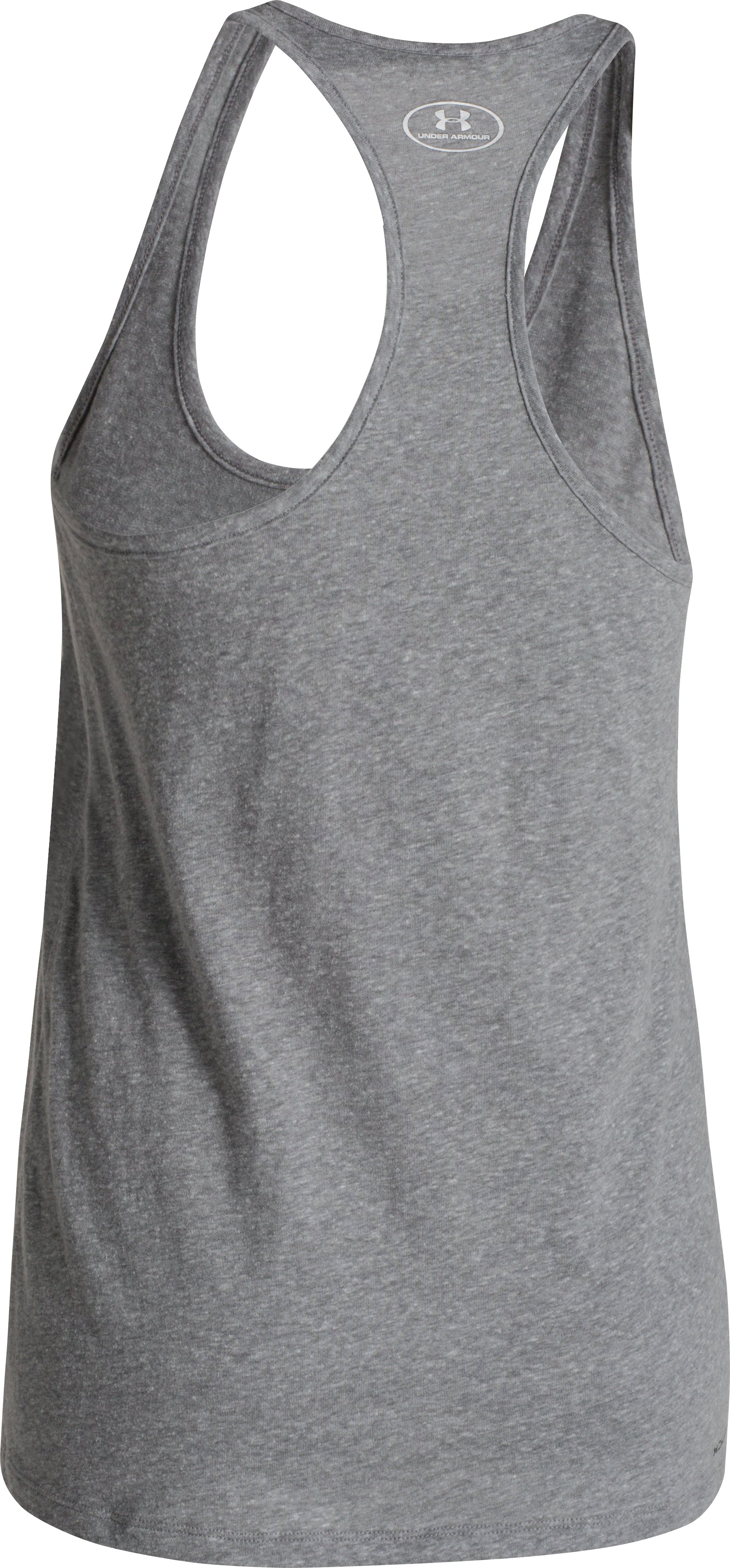 Women's UA Charged Cotton® Tri-Blend UA Tank, Carbon Heather