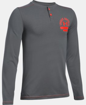Boys' UA Henley Long Sleeve  2 Colors $26.99