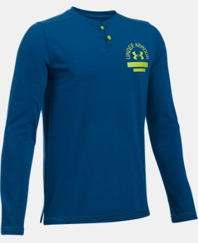 Boys' UA Henley Long Sleeve  1 Color $26.99