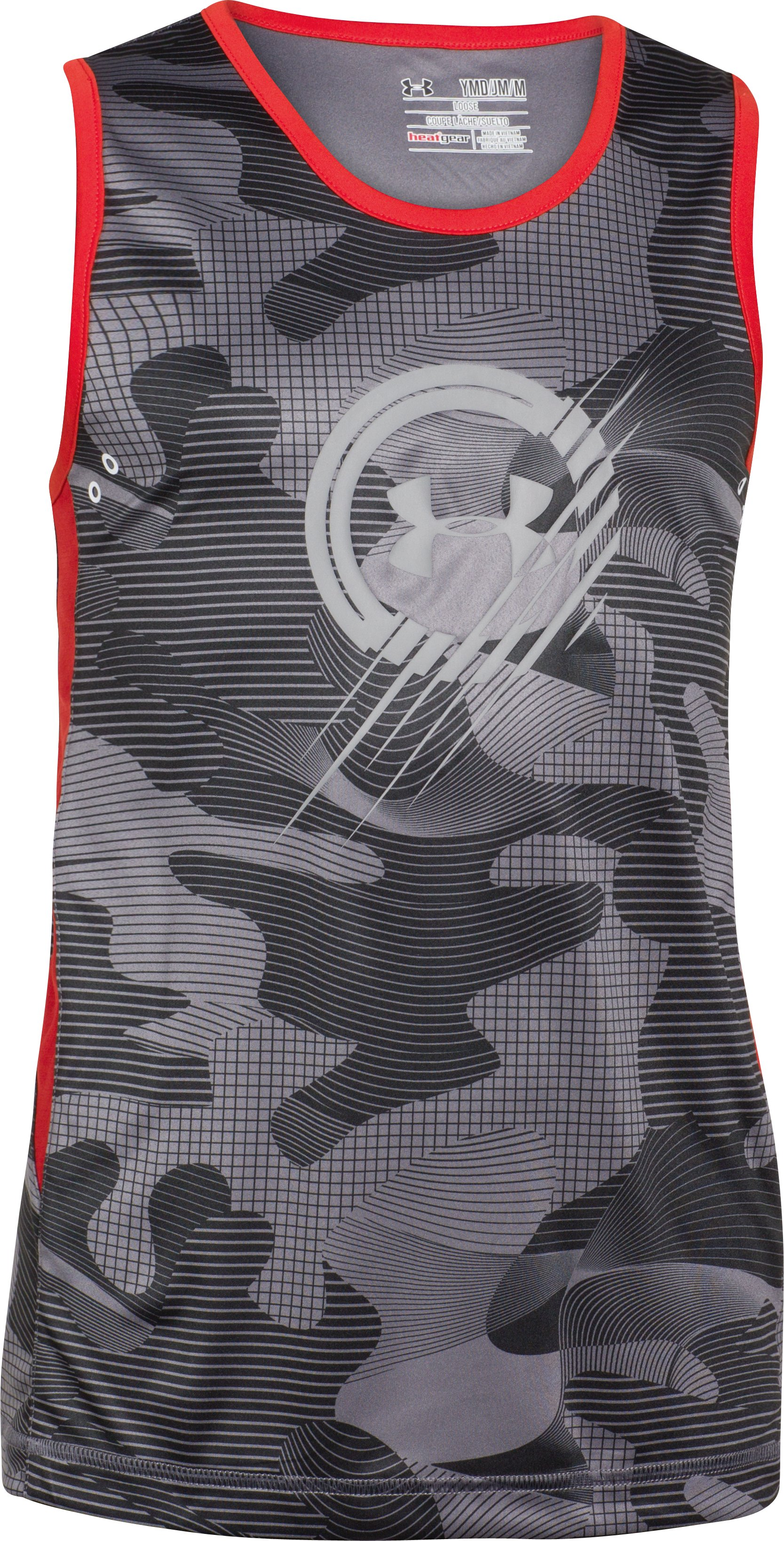 Boys' UA UPF Tank, Black