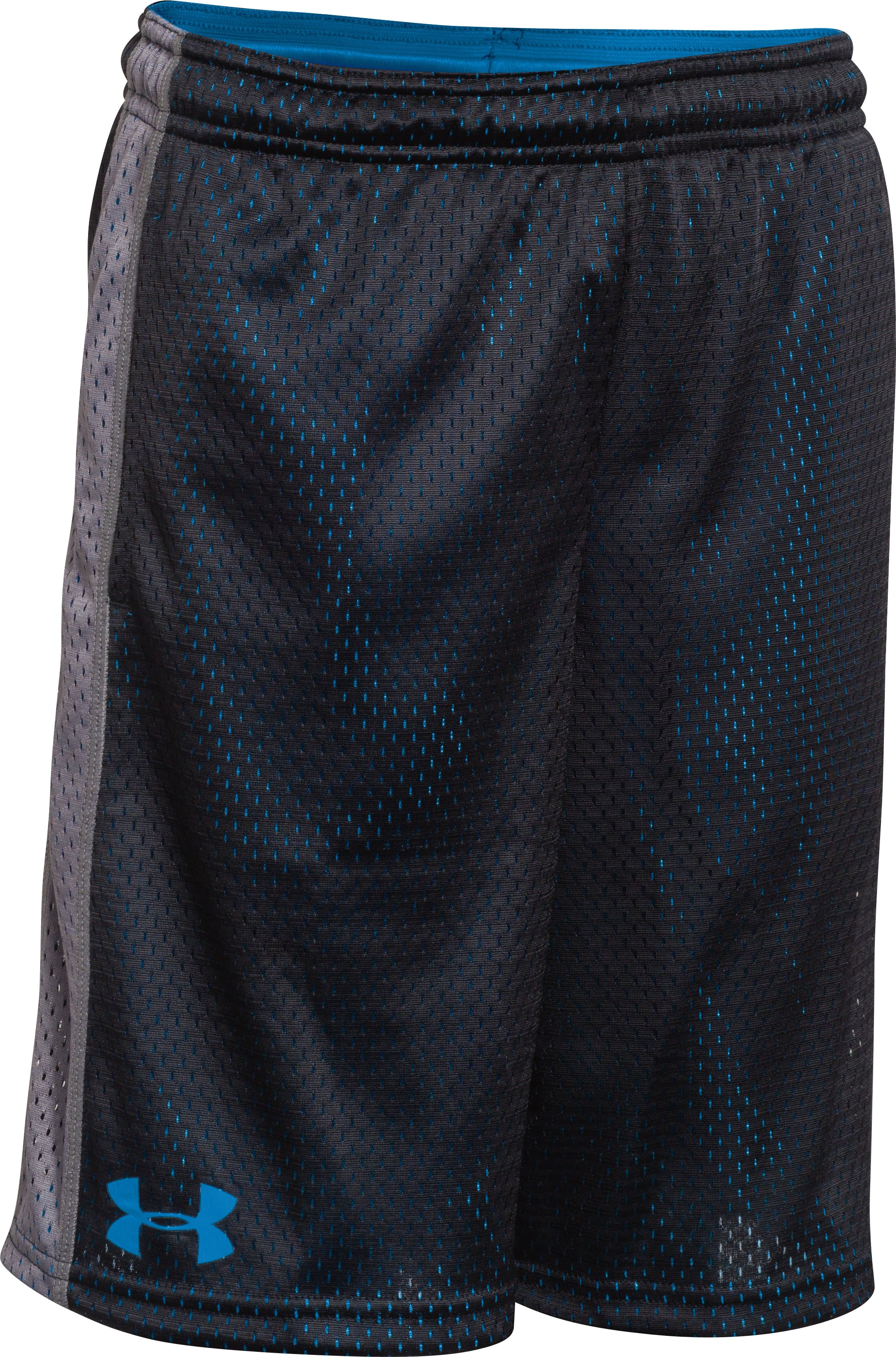 Boys' UA Influencer Shorts, Black , zoomed image