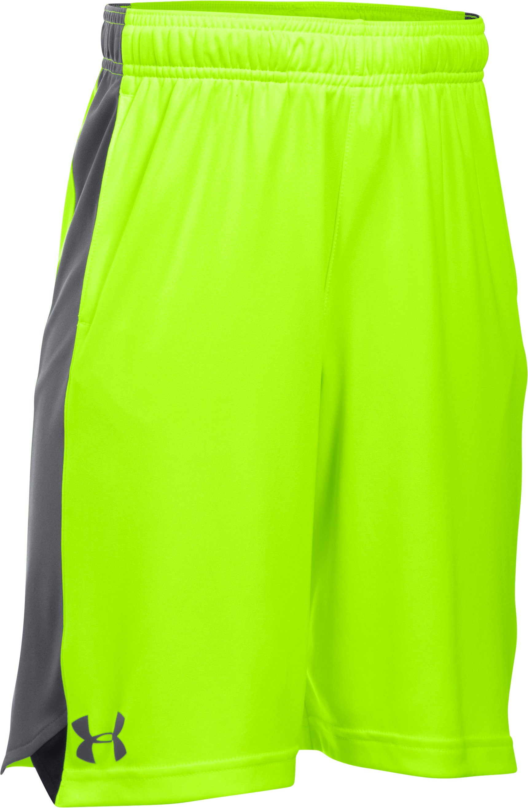 Boys' UA Eliminator Shorts, FUEL GREEN, zoomed image