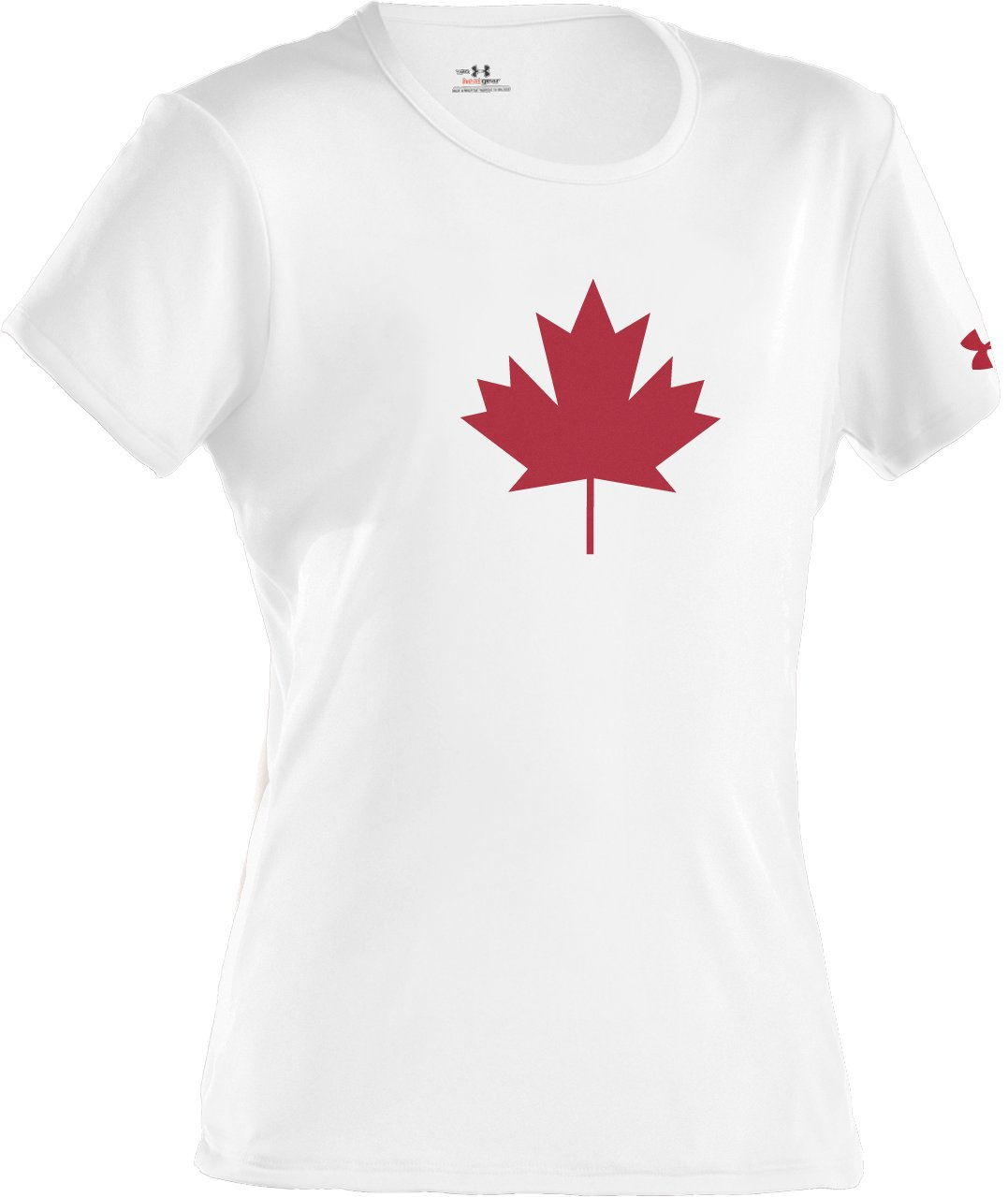 Girls' Canada Leaf T-Shirt, White, zoomed image