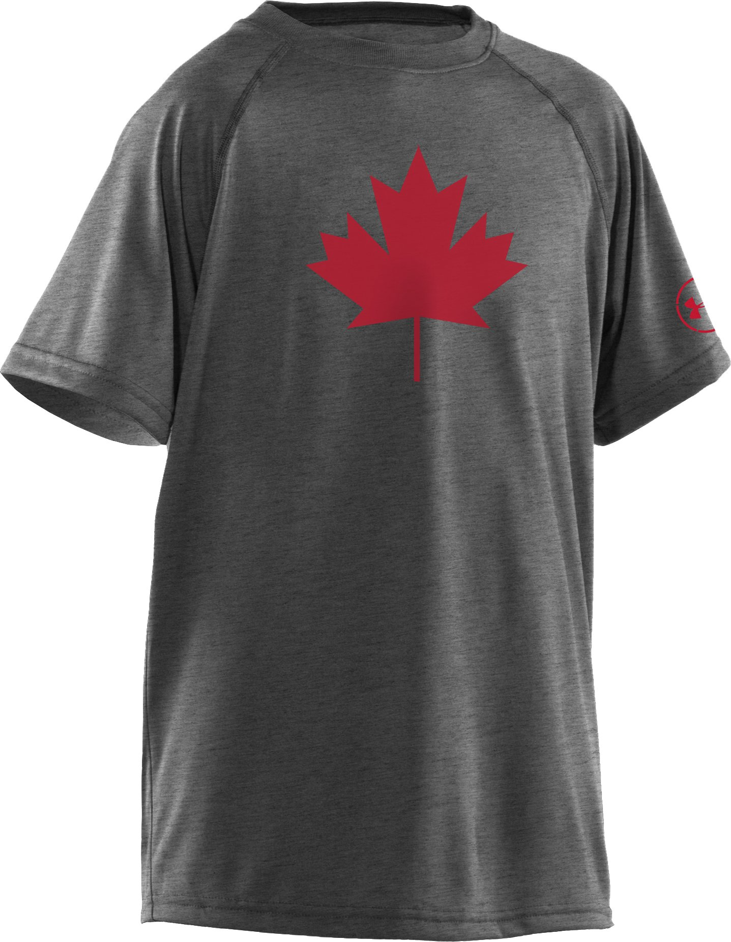 Boys' Canada Leaf T-Shirt, Carbon Heather, zoomed image