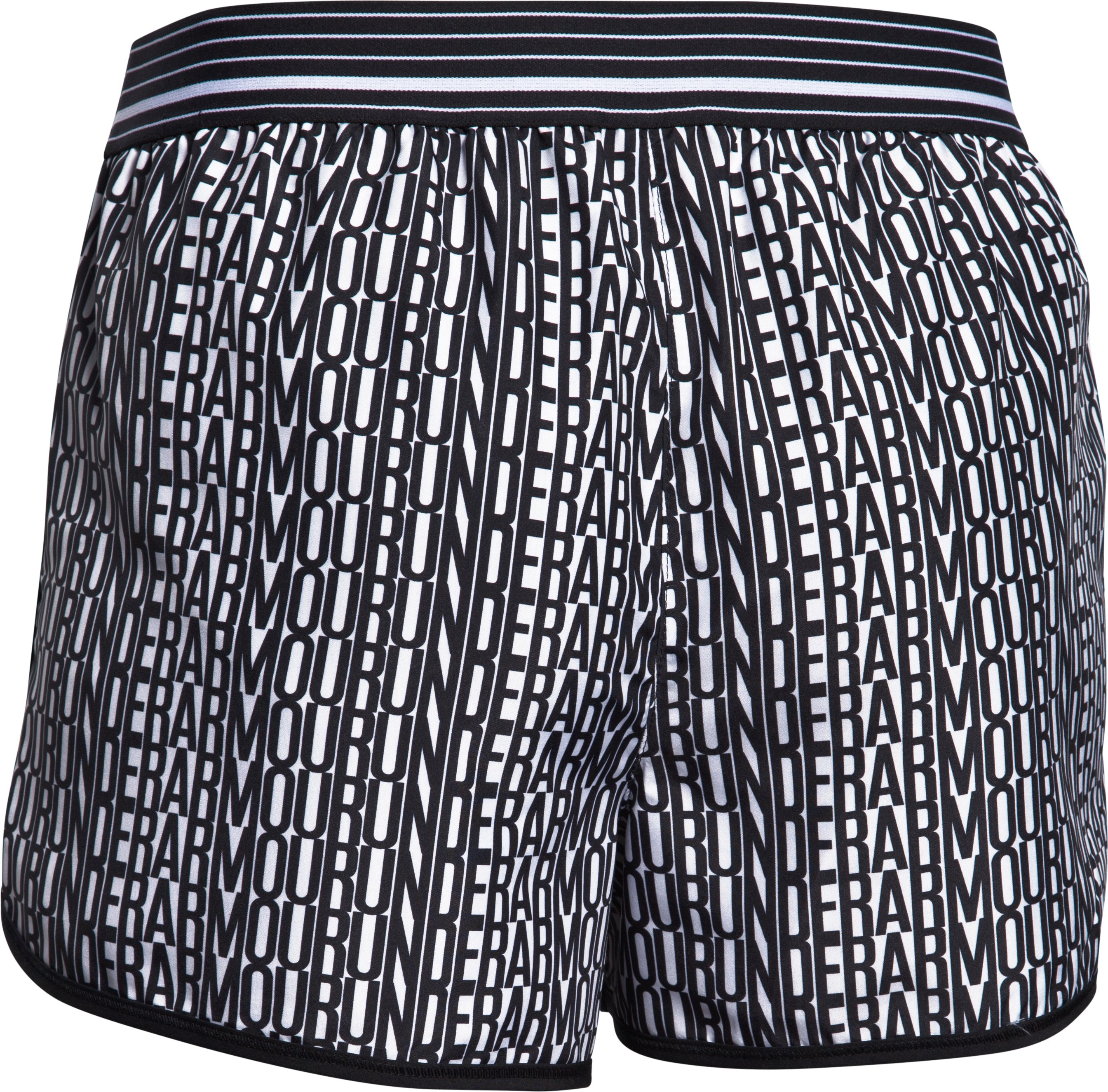 Women's UA Printed Perfect Pace Short, Black ,