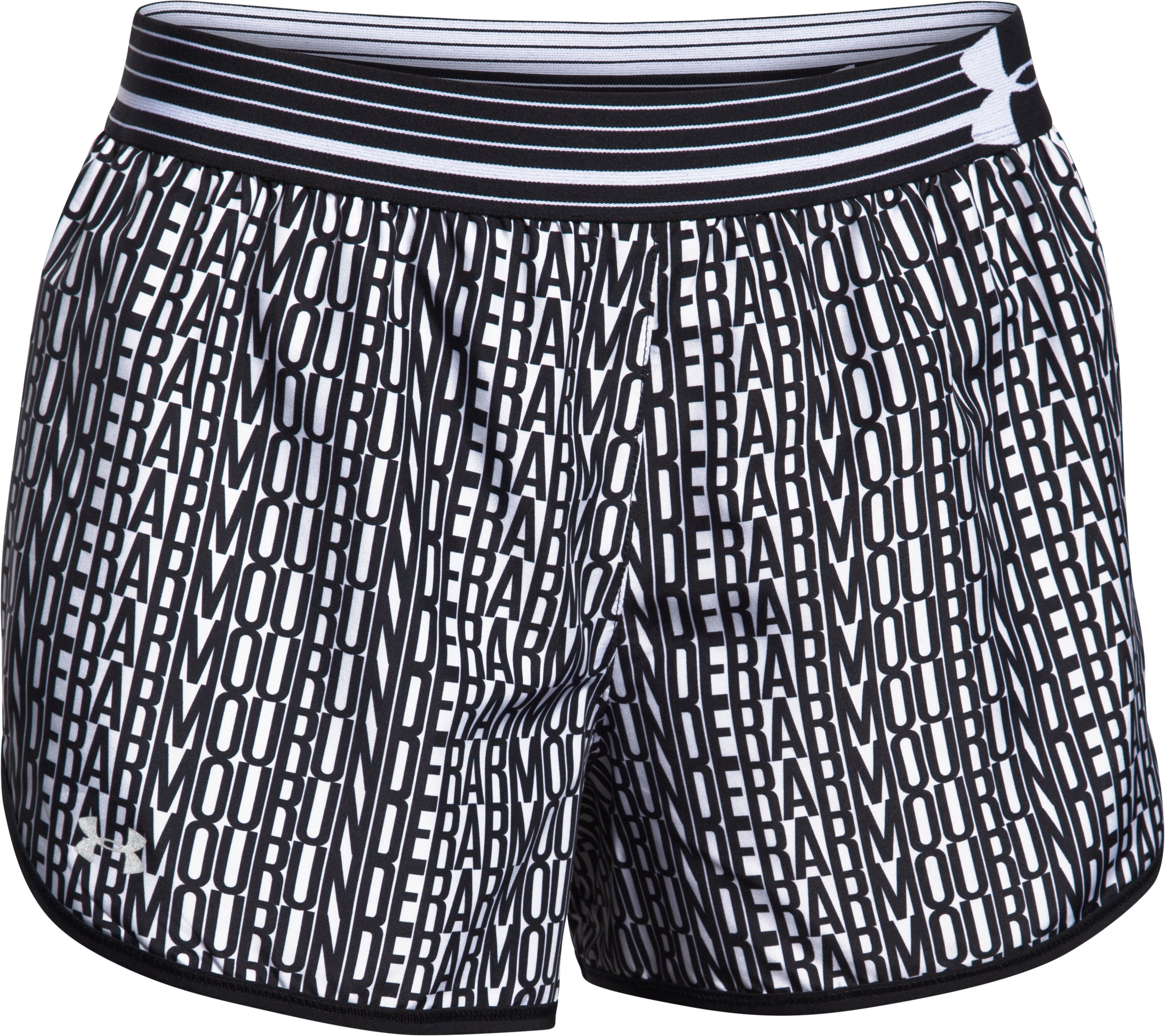 Women's UA Printed Perfect Pace Short, Black