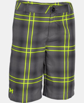 Boys' UA Utility Club Plaid Golf Shorts  1 Color $36.99
