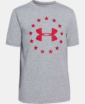 Boys' UA Freedom T-Shirt LIMITED TIME: FREE U.S. SHIPPING 1 Color $17.99