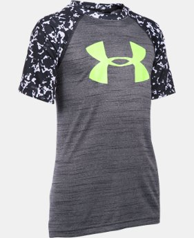 Best Seller Boys' UA Tech™ Big Logo Printed Short Sleeve T-Shirt  1 Color $19.99
