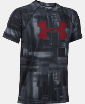 Best Seller Boys' UA Tech™ Big Logo Printed Short Sleeve T-Shirt  1 Color $24.99