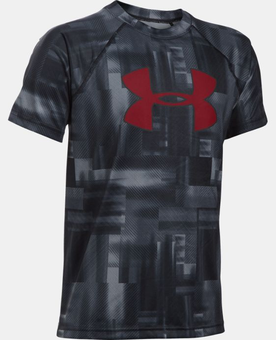 New Arrival Boys' UA Tech™ Big Logo Printed T-Shirt  2 Colors $18.99 to $24.99
