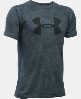 Boys' UA Tech™ Big Logo Printed Short Sleeve T-Shirt  4  Colors $16.79 to $22.99