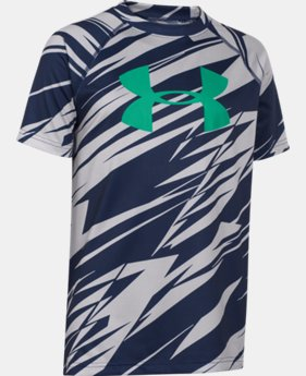Best Seller Boys' UA Tech™ Big Logo Printed T-Shirt  4 Colors $18.99 to $24.99