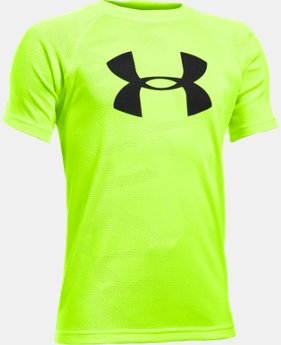 Boys' UA Tech™ Big Logo Printed Short Sleeve T-Shirt  1 Color $17.99