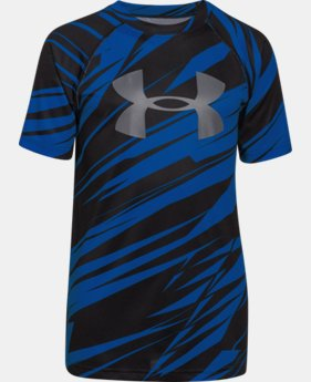 Best Seller Boys' UA Tech™ Big Logo Printed T-Shirt  5 Colors $18.99 to $24.99