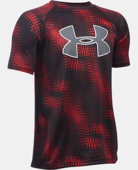 Best Seller Boys' UA Tech™ Big Logo Printed T-Shirt  2 Colors $18.99 to $24.99
