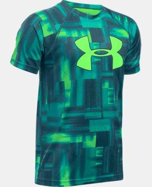 New Arrival Boys' UA Tech™ Big Logo Printed T-Shirt  3 Colors $18.99 to $24.99