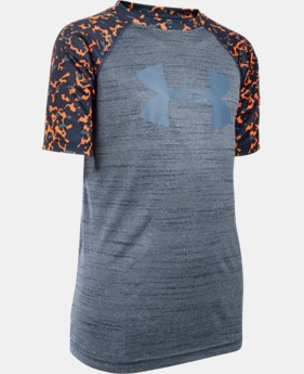 New Arrival Boys' UA Tech™ Big Logo Printed T-Shirt  1 Color $14.24 to $24.99