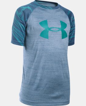 New Arrival  Boys' UA Tech™ Big Logo Printed T-Shirt LIMITED TIME: FREE SHIPPING 1 Color $27.99