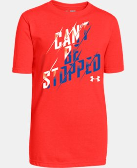Boys' UA Can't Be Stopped T-Shirt LIMITED TIME: FREE U.S. SHIPPING  $14.99
