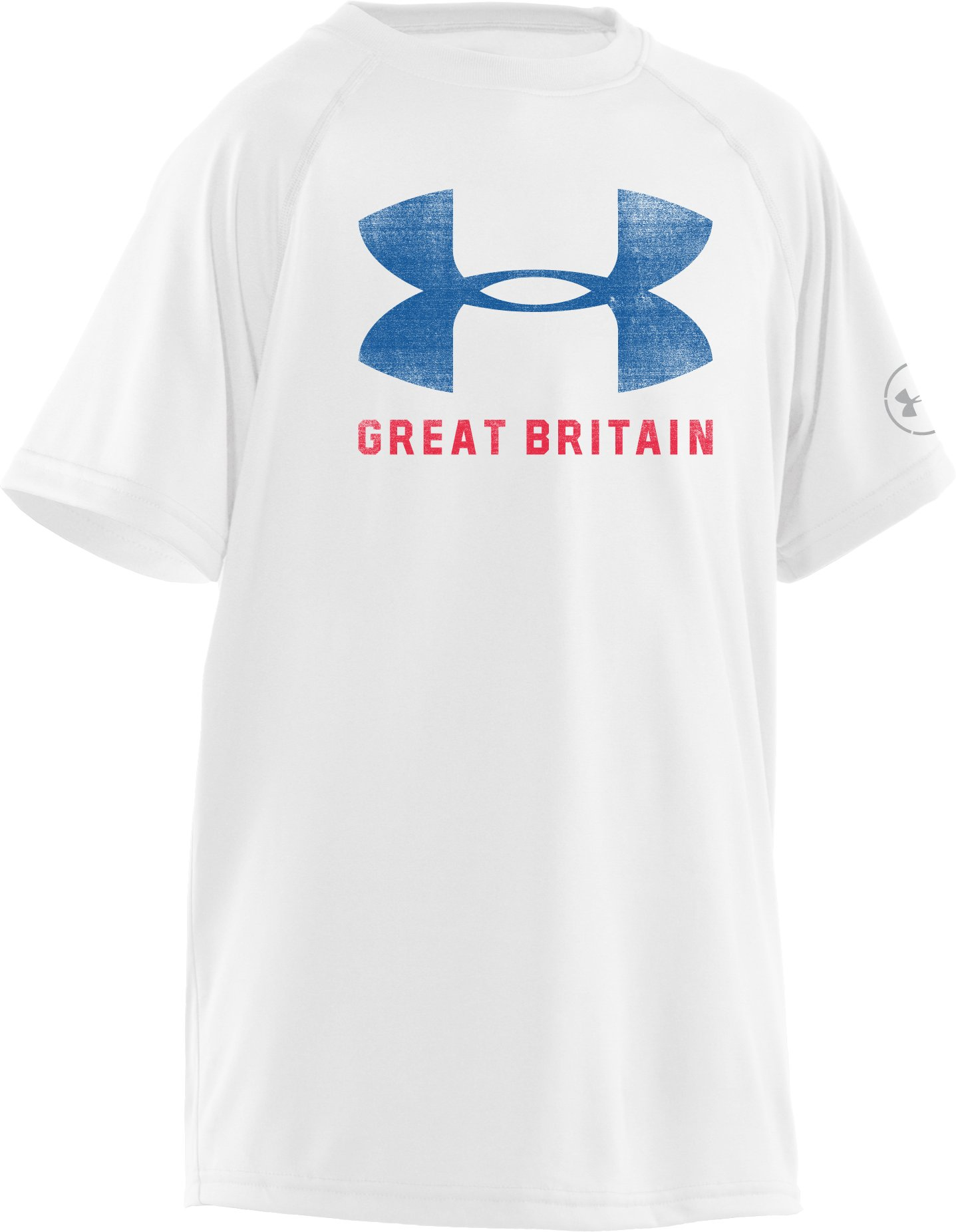 Boys' Great Britain Pride T-Shirt, White, zoomed image