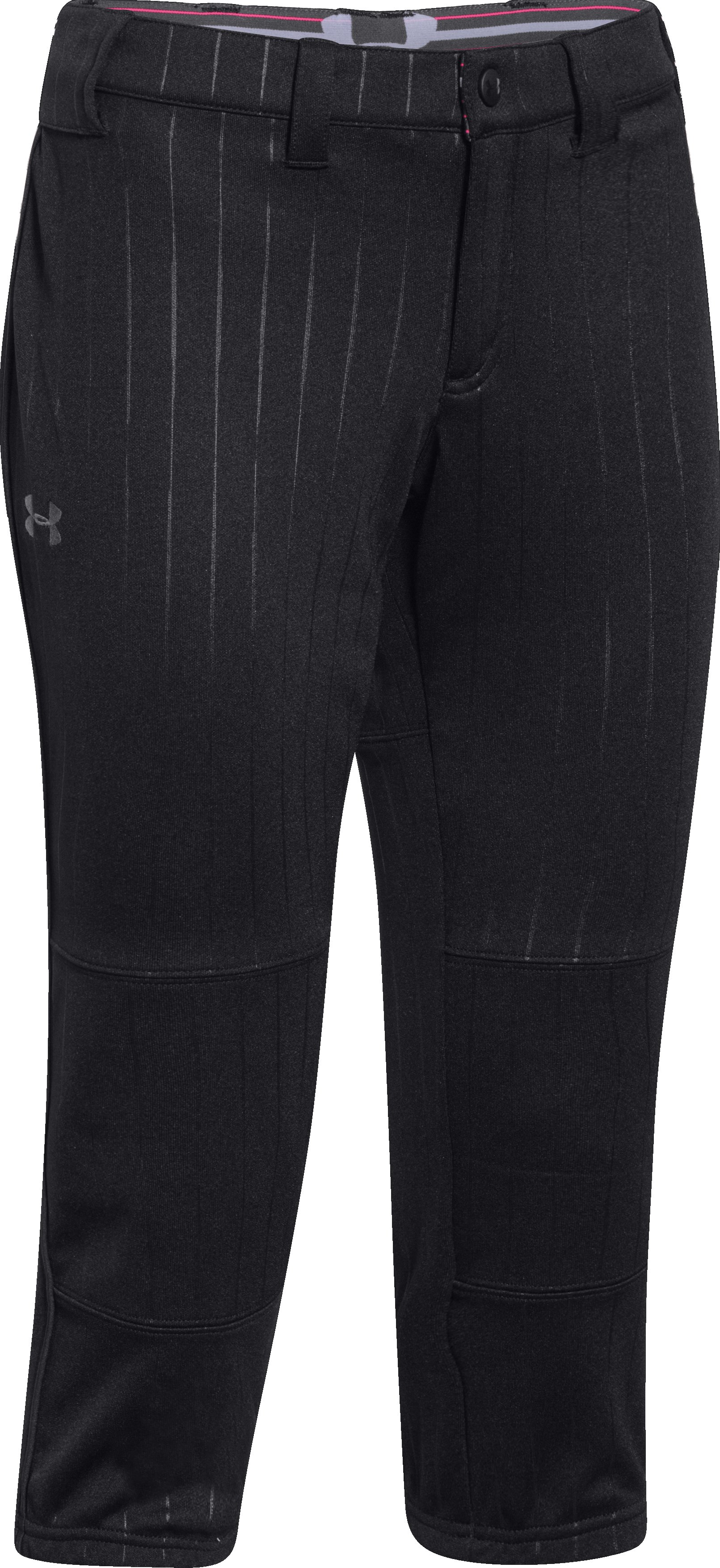 Women's UA Heater Embossed Pant, Black , undefined