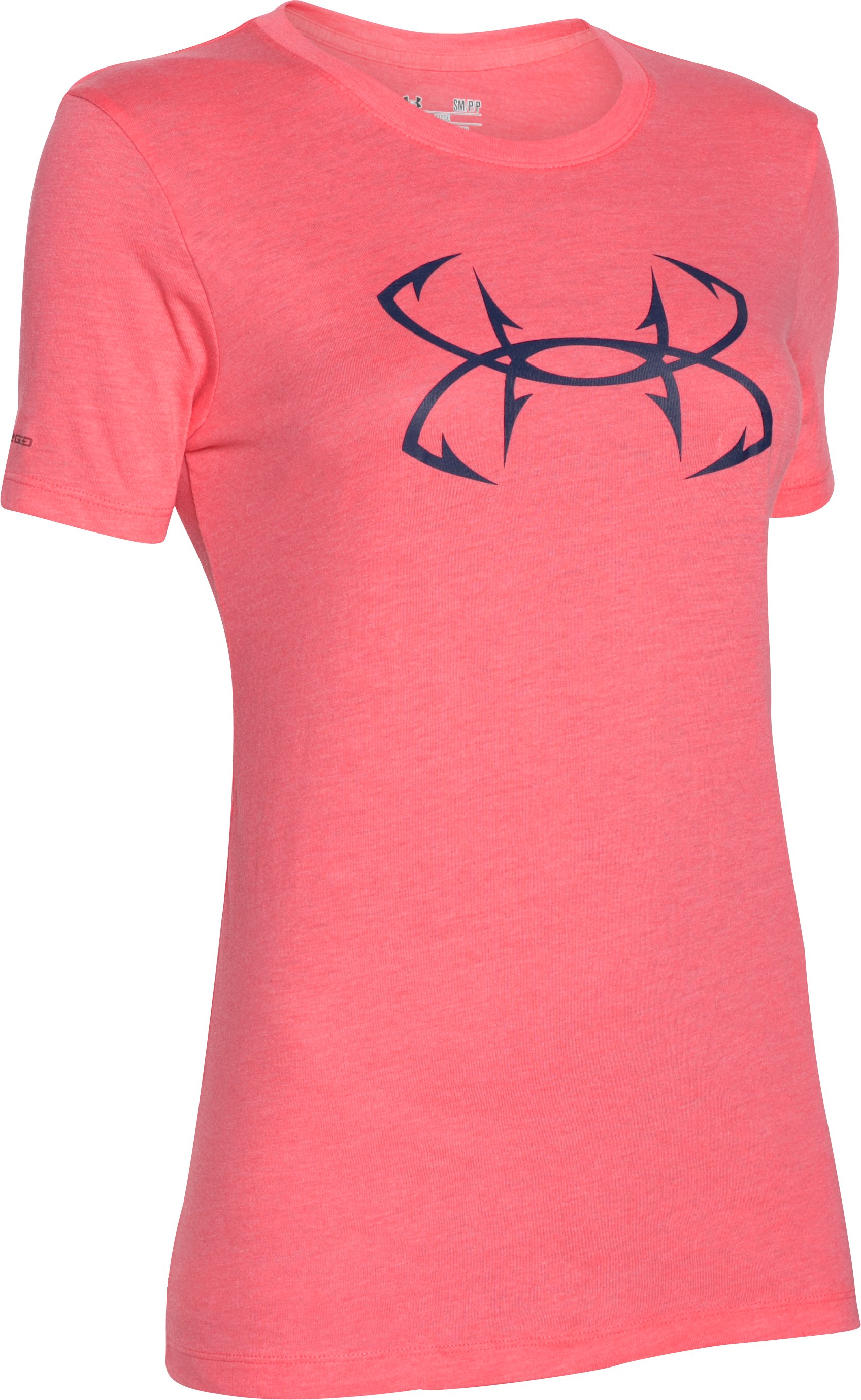 Women's UA Charged Cotton® Tri-Blend Hook T-Shirt, HARMONY RED