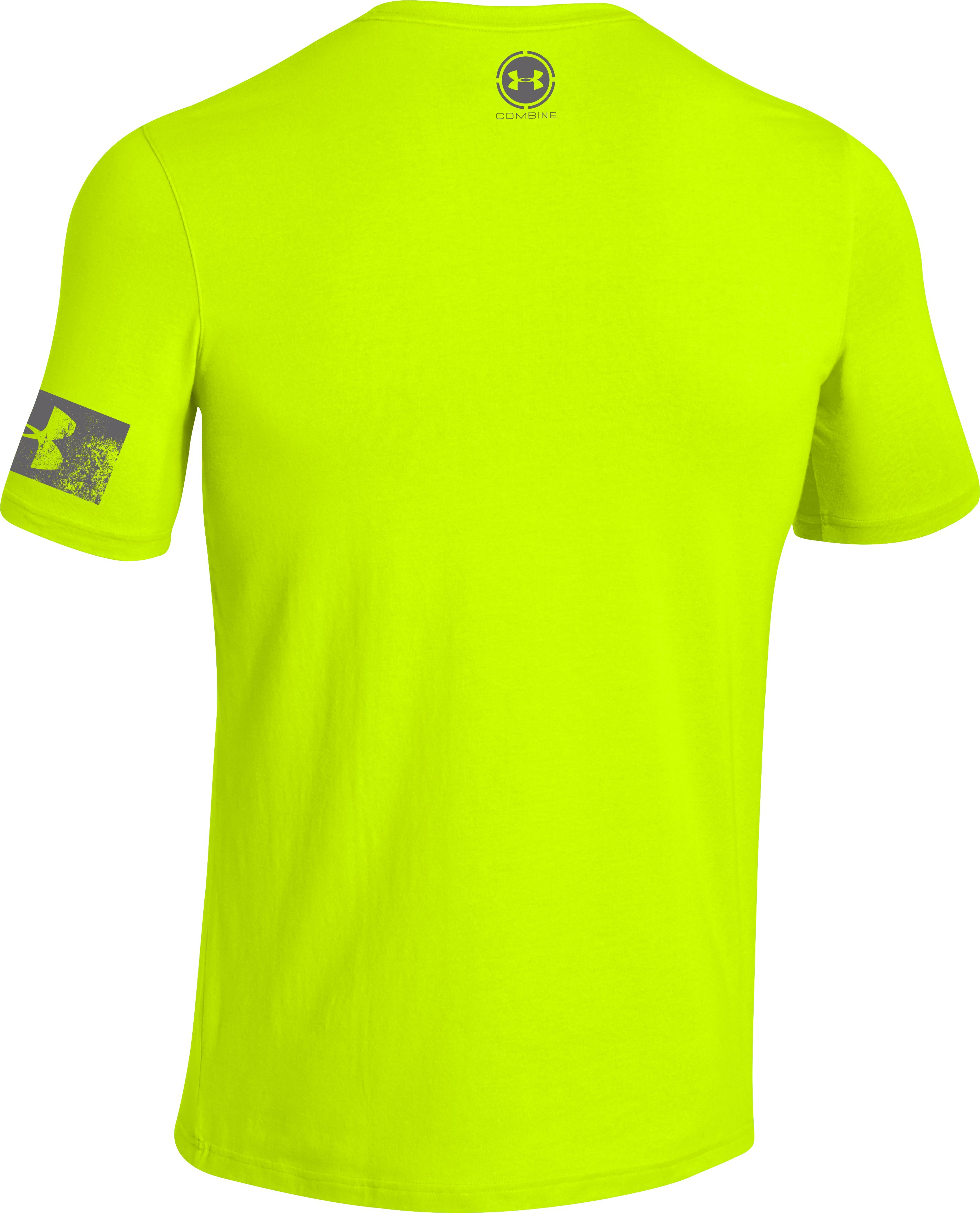 Men's UA Combine® Training Power In Numbers T-Shirt, High-Vis Yellow