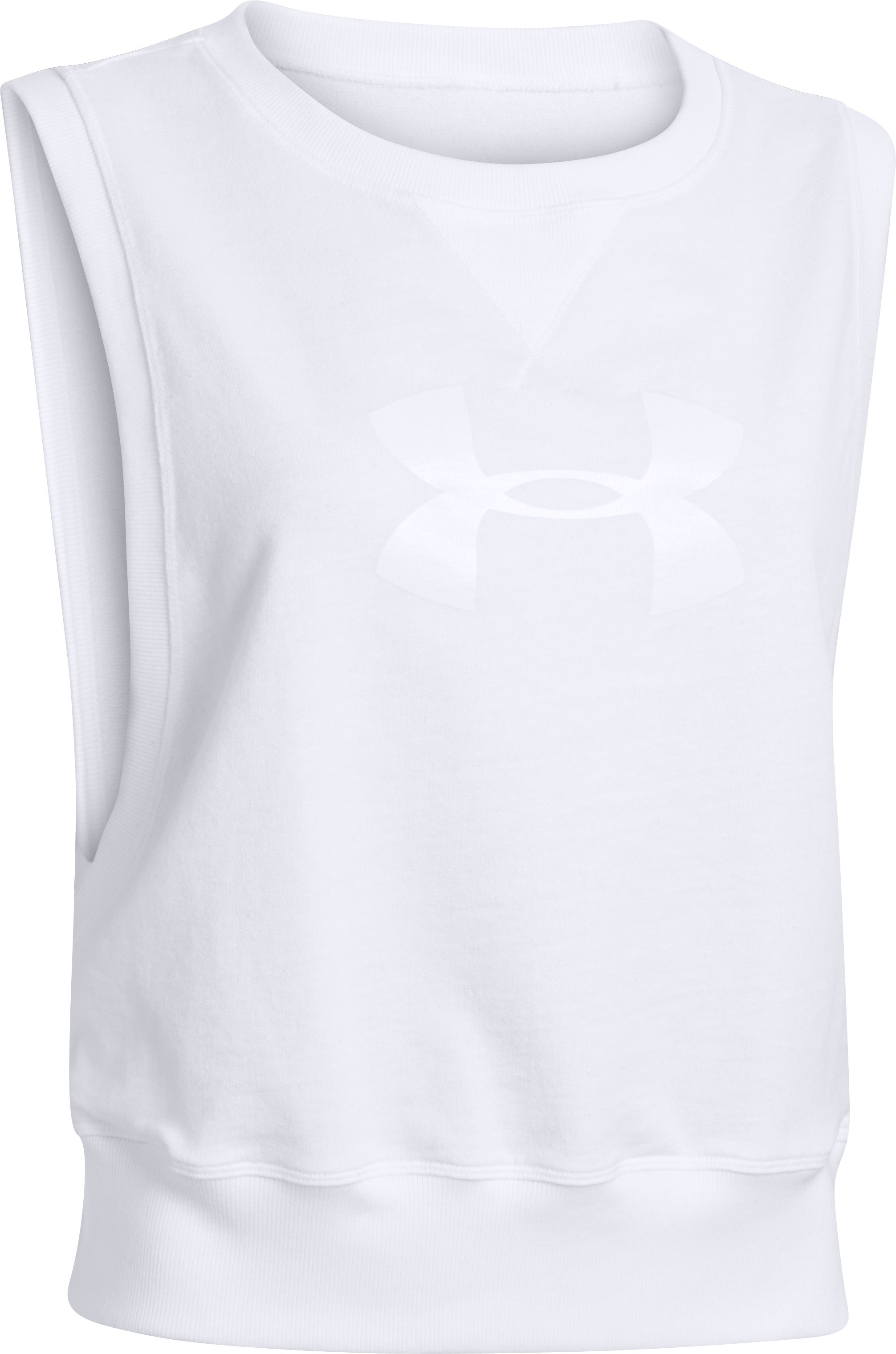 Women's UA Pretty Gritty French Terry Vest, White